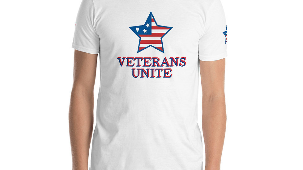 Short-Sleeve Unisex T-Shirt BravoHOOD  Veterans Unite Vote 2020