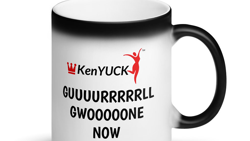 Matte Black Magic Mug - KenYUCK Guuuuuurrrl gwoooone Now!