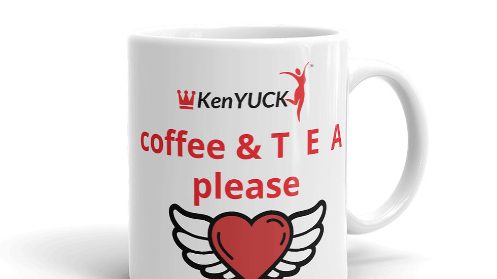 Mug - KenYUCK Coffee and T E A Please heart w/wings