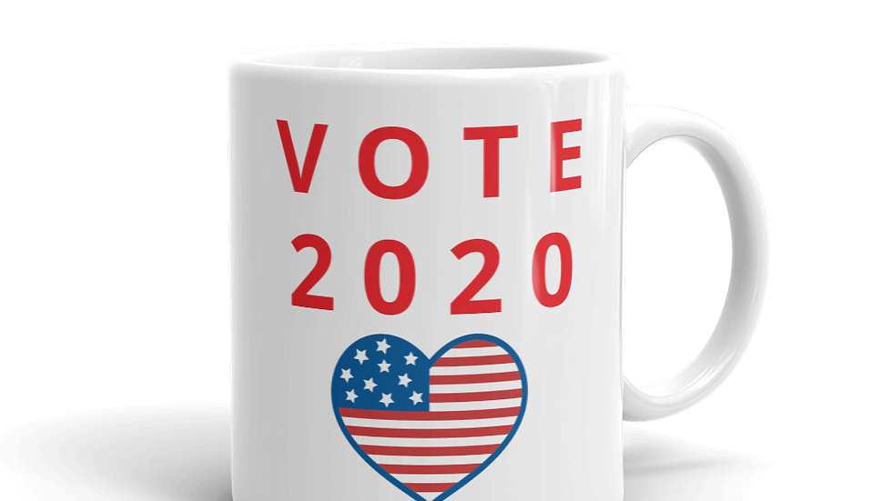 Mug - VOTE 2020 W/usa heart