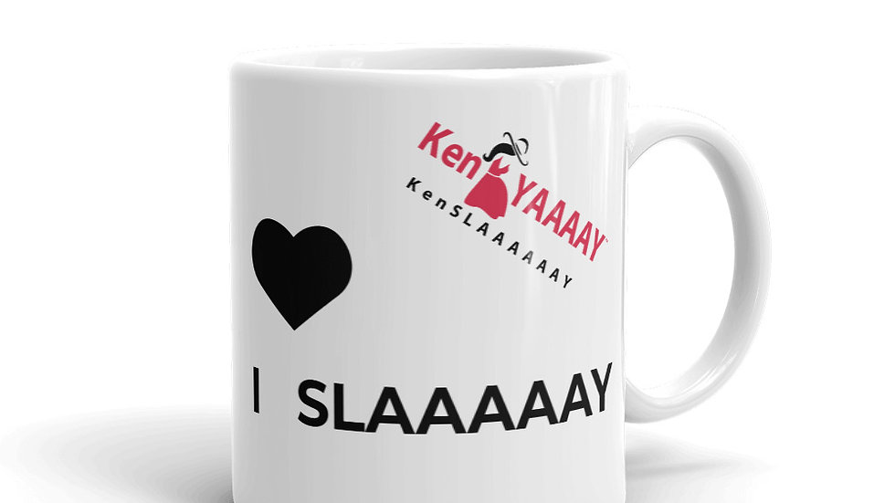 Mug - KenYAAAAY KenSLAAAAAAY   I  SLAAAAAY! with blk heart