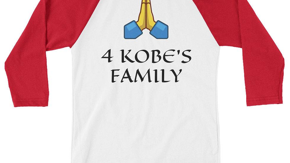 3/4 sleeve raglan shirt - praying hands 4KOBE'S FAMILY #24 #8 #2