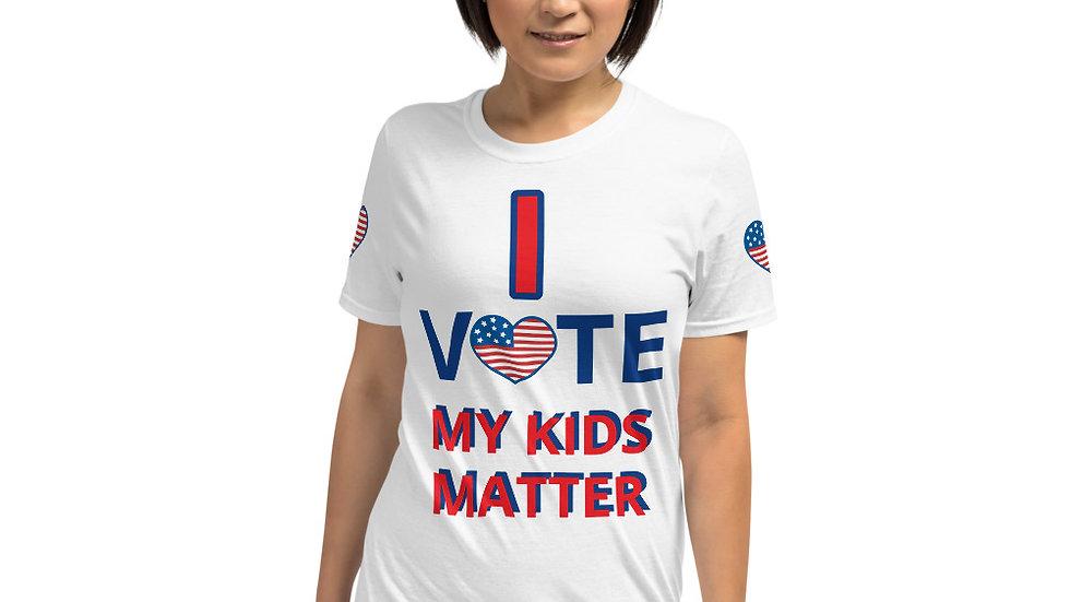 Short-Sleeve Unisex T-Shirt KenYUCK -  I Vote my kids matter