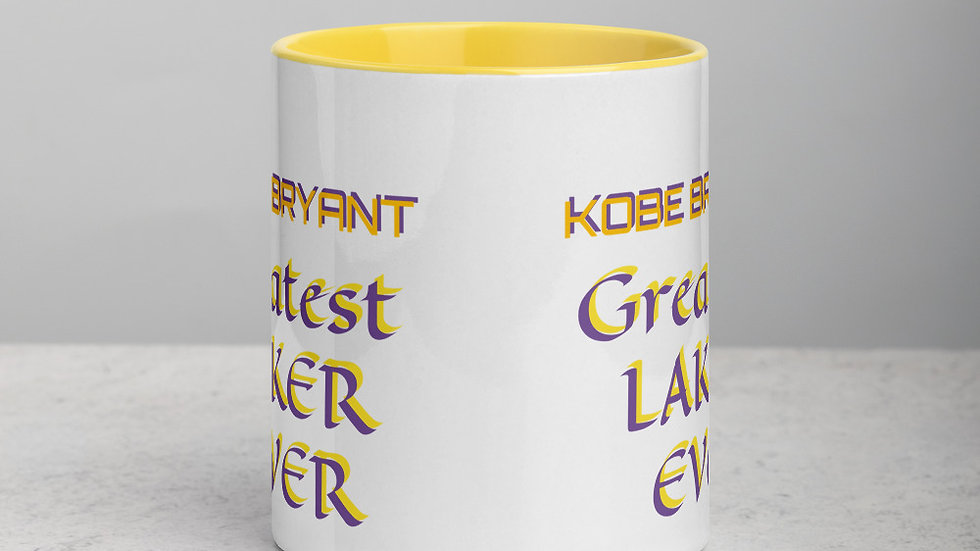 Mug with Color Inside - Kobe Bryant Greatest Laker Ever