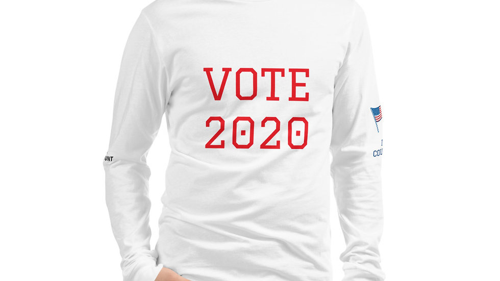 Unisex Long Sleeve Tee - KenYUCK  VOTE 2020 w/U.S. Flags