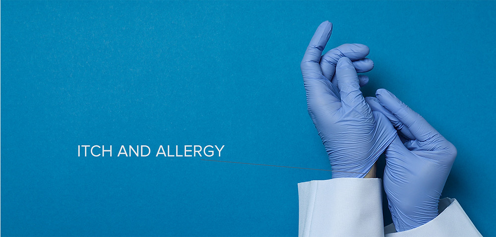 Latex gloves can cause allergies and itch