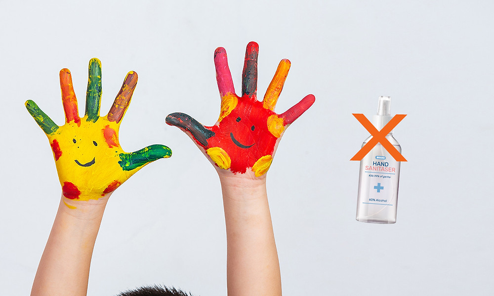 Can't clean dirty and greasy hands with Hand Sanitizer