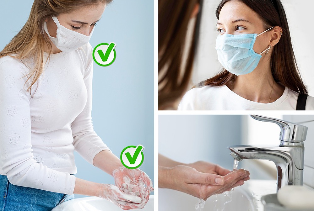 Wash your hands and wear a mask to protect yourself from germs