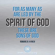 A bible quote Romans 8:14