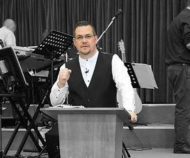 Darren Roy preaching