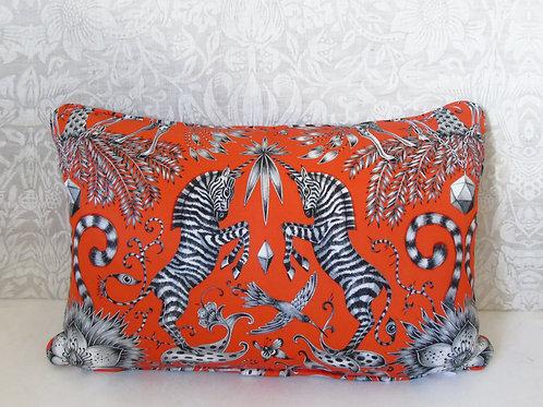"12"" x 18"" Flame Kruger C&C Fabric Cushion"