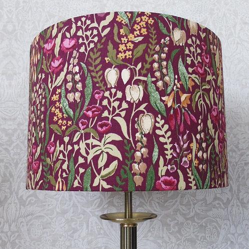 Burgundy ILIV Floral Kelmscott Lampshade