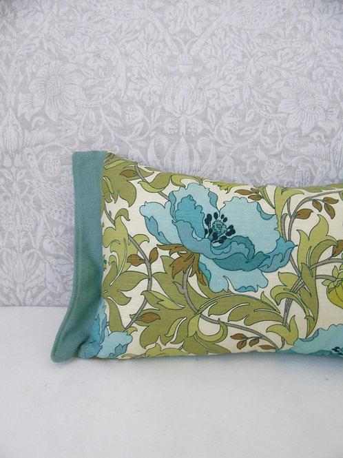 "12"" x 18"" Duck Egg Floral Art Deco Rectangle Cushion"