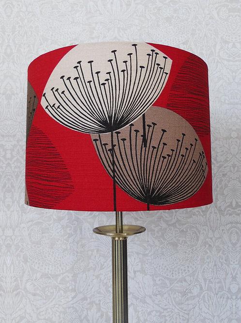 Red Sanderson Dandelion Clocks Lampshade