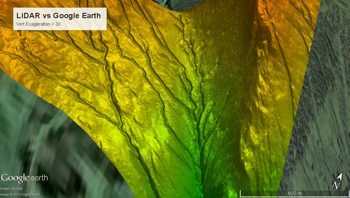 Lidar vs. Google Earth 2