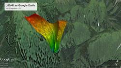 LiDar vs. Google Earth