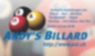 Andy's Billard Gmbh, Billardtische, Tischfussball