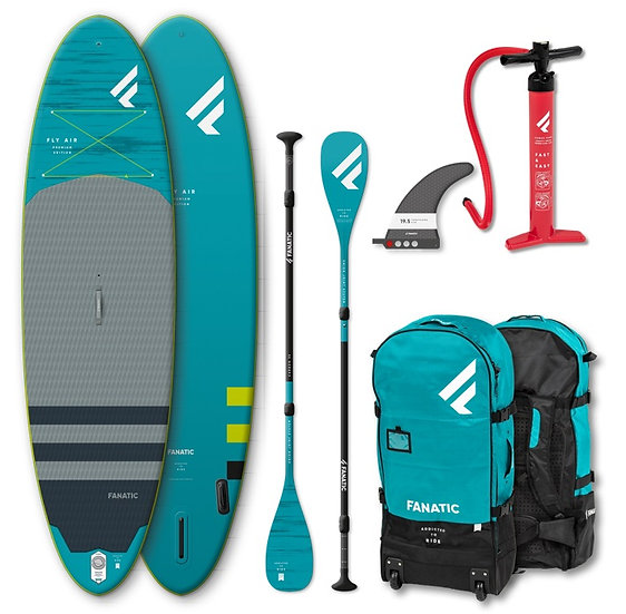 Fanatic SUP Fly Air Premium 2020 Pack mit Paddle - Aufblasbar