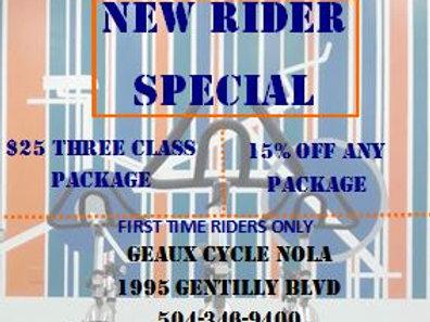 New Rider Special