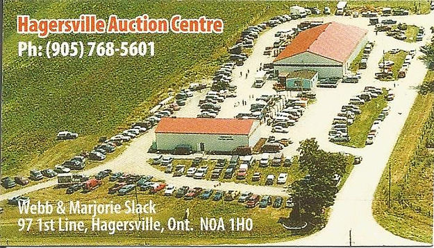 Hagersville Auction Centre Business Card