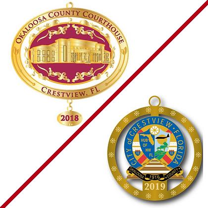 Set of Christmas Ornament 2018/2019