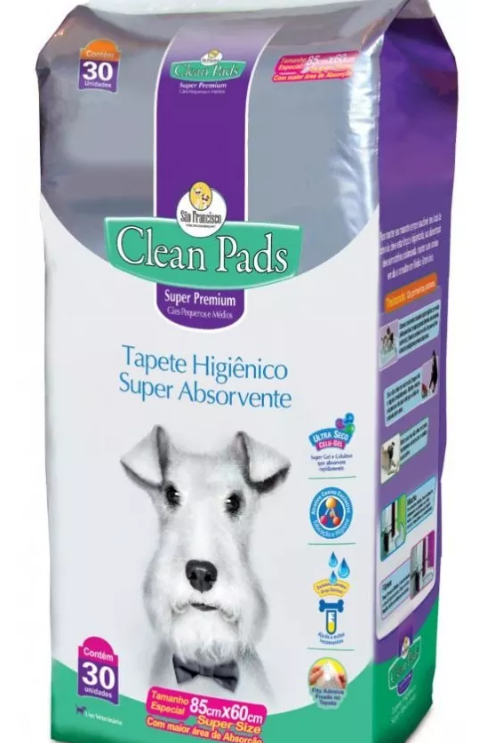 Tapete Higiênico Clean Pads 30 Unds