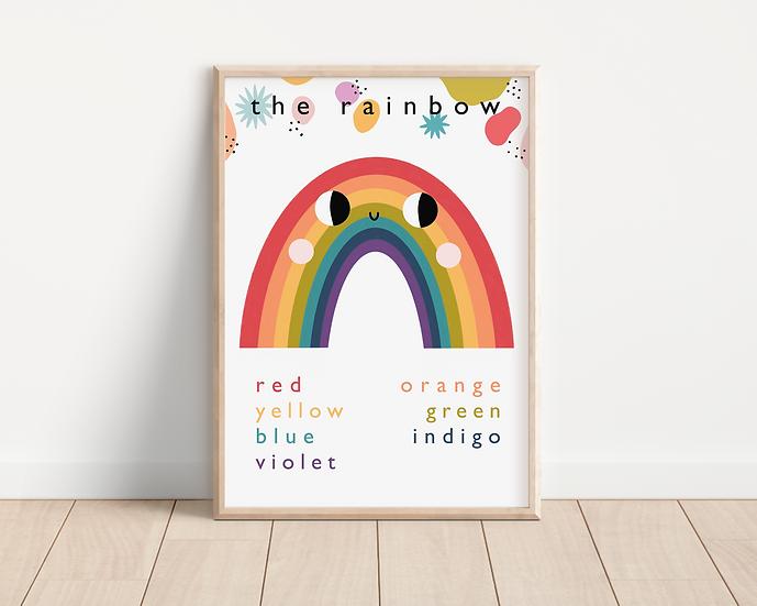 Rainbow colours A4 print