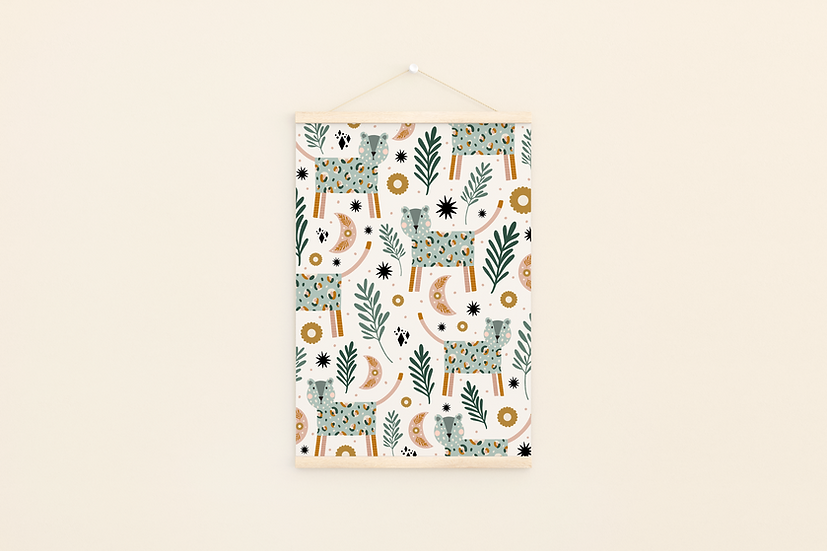 Leopard Pattern A4 Print