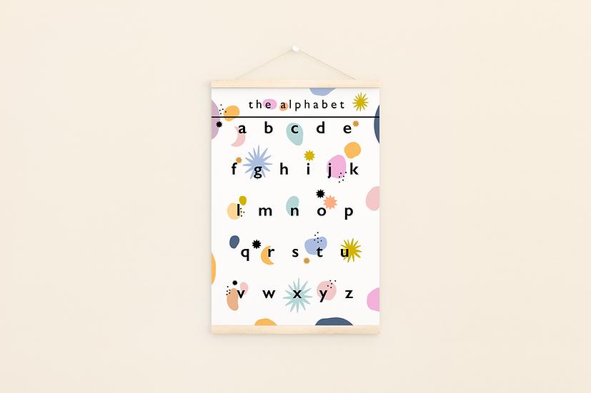 Alphabet A4 print