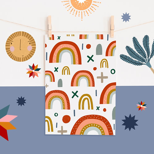 A4 Rainbow Print