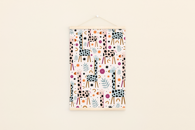 Giraffe Pattern A4 Print