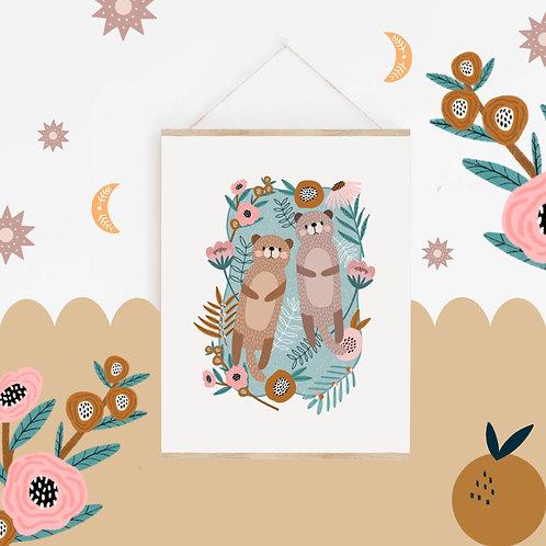 A4 Otter Print