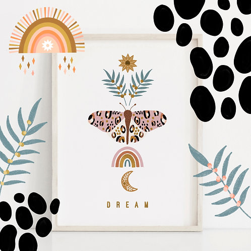 A4 Gold Foil Dream Print