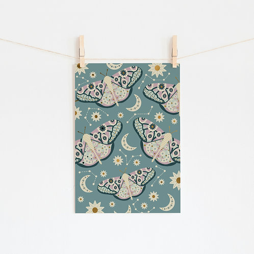Gold Foil Butterfly A4 Print