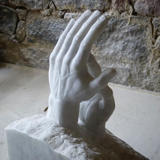 Skulptur klatschende Hände