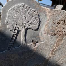 Grabstein Obstbaum