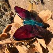 Blumenstecker Schmetterling