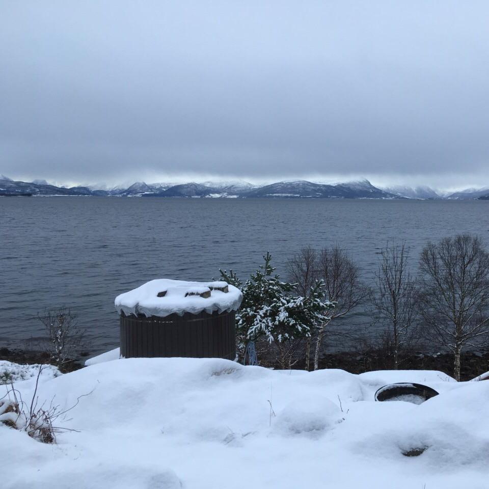 Fantastisk utsikt selv på en kald og grå vinterdag