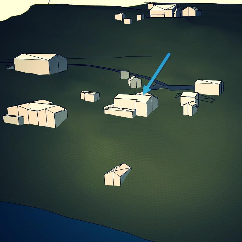 Terrengmodell utarbeidet i ArchiCAD