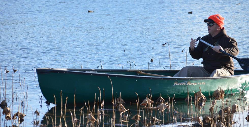 Brandon in Canoe