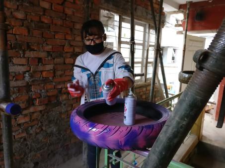 tyre treasures work in progress Nepal