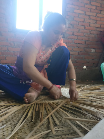SarJayanthi in the making-tyre treasures upcycled tyre furniture in nepal