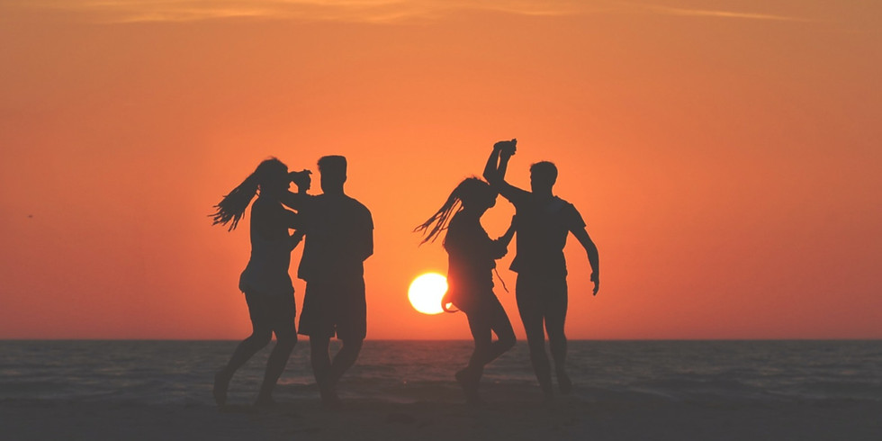 Sunset Dance Party on the Beach
