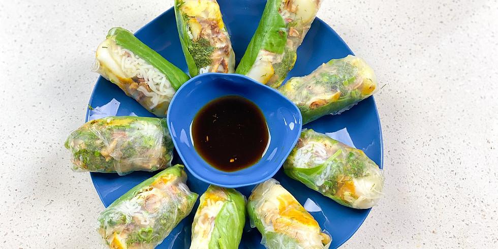 Linh's Cooking Class & Interactive Dinner: Summer Rolls (INDOOR)