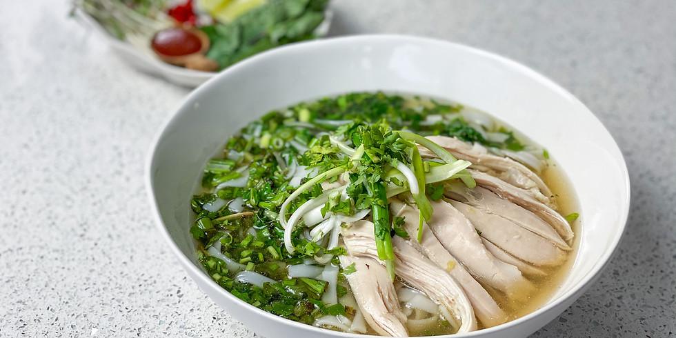 Linh's Cooking Class & Interactive Dinner: Vietnamese Chicken Pho (INDOOR)