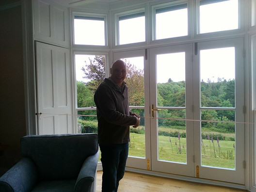 Bifold doors after replacement