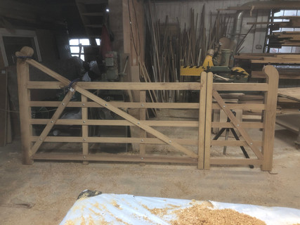Gate in the workshop