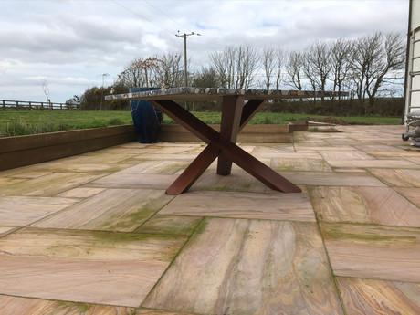 Patio garden table