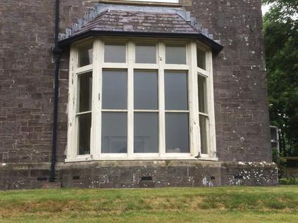 Bifold doors before replacement