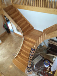 Ash imperial (double) staircase